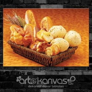 Ekmek Sepeti Kanvas Tablo