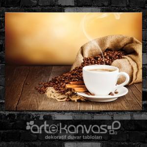 Kahve Taneleri Kanvas Tablo