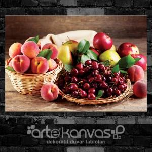 Meyve Sepetleri Kanvas Tablo