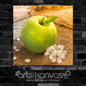 Yeşil Elma Kanvas Tablo