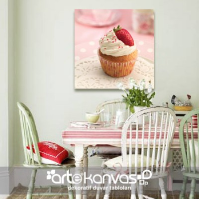 Cupcake Kanvas Tablo