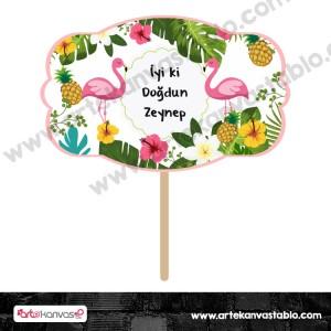 Konuşma Balonu 16 Flamingo Ananas