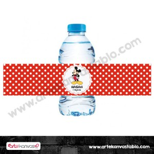 Şişe Etiketi Mickey Mouse Konsept 21x5 cm